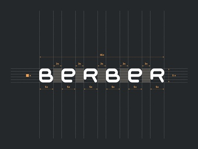 BERBER white orange black identity branding grid typography logotype logo