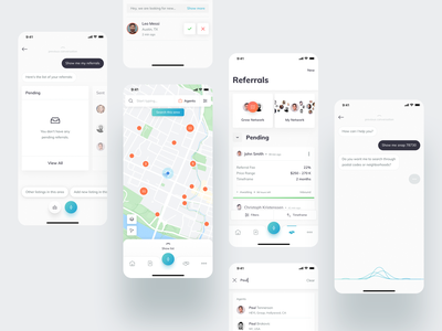 KW Command Mobile android ios typography command agent personal assistant map react native artificial intelligence voice assistant real estate minimal ux ui app mobile