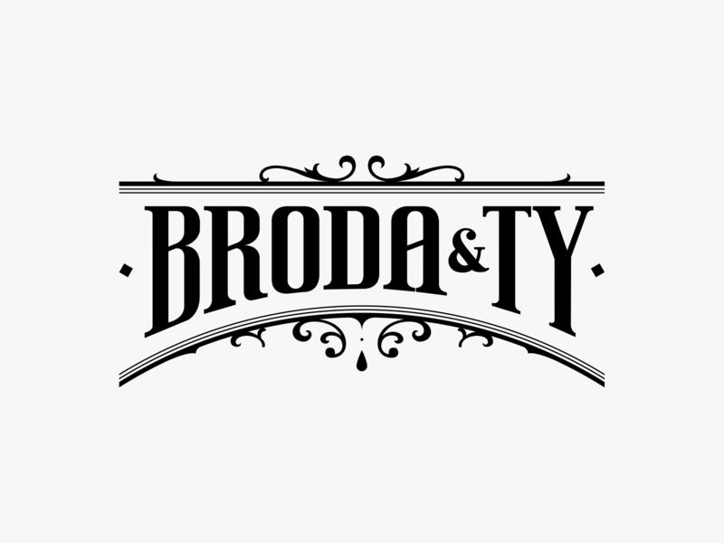 Broda&Ty black copper branding oldschool bearded man barber lettering custom type handcrafted handmade typography logo cosmetics beard
