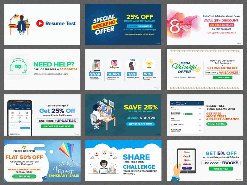 Notification Banners by vinod singh on Dribbble