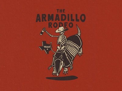 Armadillo Rodeo branding artwork tshirtdesign vintage apparel design illustration vintage design graphic design distressedunrest badge design