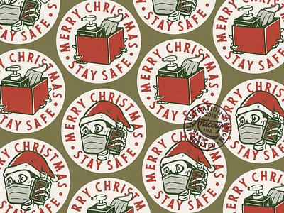 Christmas & Covid artwork branding covid-19 tshirtdesign vintage merchandise merch apparel design vintage design illustration graphic design badge design