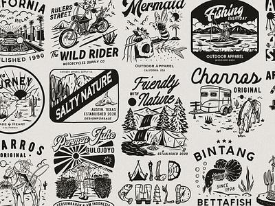 2020 Archive logo artwork vintage branding tshirtdesign distressedunrest badge design vintage design illustration graphic design