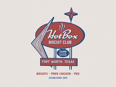 HOTBOX SIGN sign design clothing design logo branding tshirtdesign badge design vintage apparel design vintage design illustration graphic design