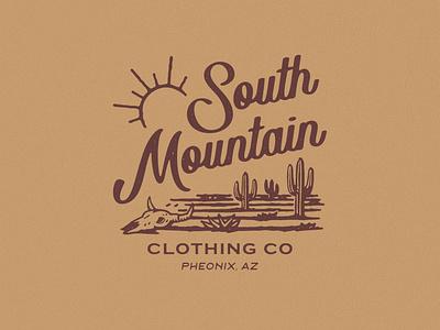 SOUTH MOUNTAIN artwork branding distressedunrest tshirtdesign apparel design vintage badge design vintage design illustration graphic design