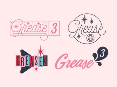 Grease 3 logo versions