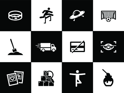 Office Icons security search delivery truck business soccer ufo inventory yoga web app ux ui line simple icon