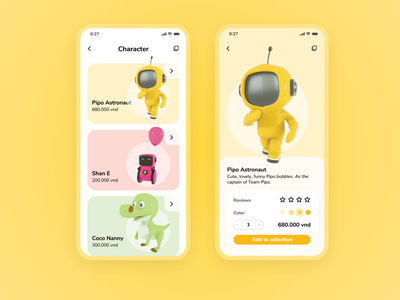 Pipo - App Events For Kids shopping store screen astronaut robot dinosaur splash simple toy event balloon application design app app design ux ui