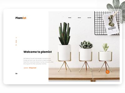 Web Design Minimalist layout interface clean ui indoor plant minimalist web design webdesign ui  ux landing page
