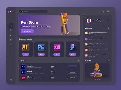 App for Design icon c4d dashboard dashboard ui noise illustration 3d clean photoshop interface application design