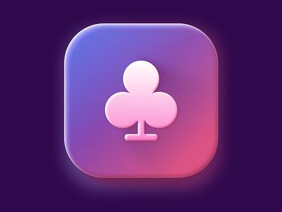 Clubs icon app icon figma interface clean ui logo illustration 3d app application design