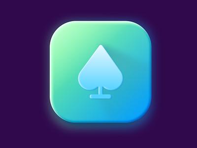 Spades icon app clubs spades icon figma branding app logo ui illustration 3d clean interface application design