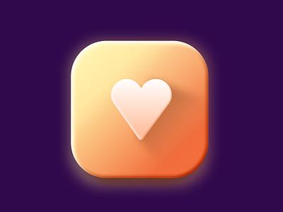 Hearts icon app icon figma illustration interface design application app logo graphic design 3d