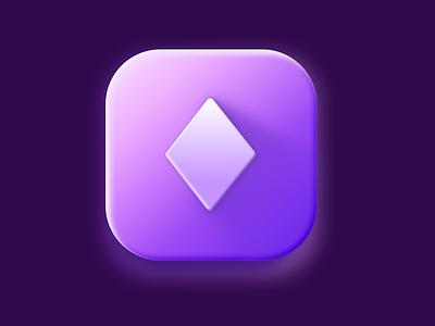 Diamonds icon app illustration figma icon ui logo clean 3d interface application design graphic design diamonds