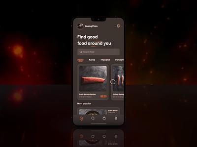Food app ae sushi design food app application interface figma motion graphics animation ui