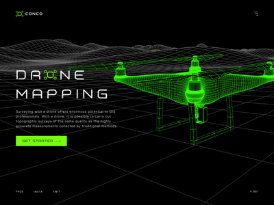 Drone Mapping figma clean app design application interface 3d animation ui