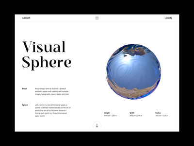 Visual Sphere visual sphere clean layout figma design interface inte motion graphics 3d animation ui
