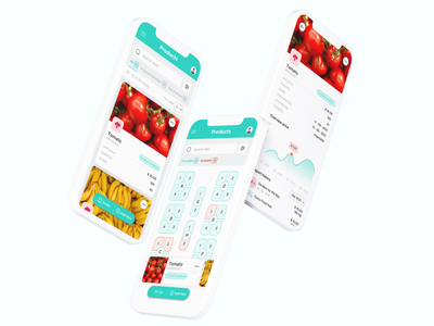 Item management concept uxui managerment supermarket food figma clean application interface ui