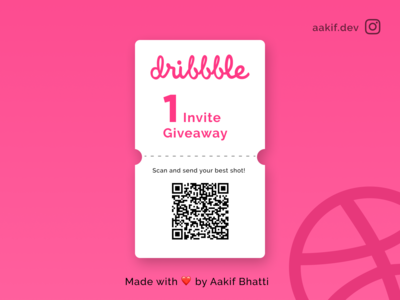 Dribble Invite Giveway