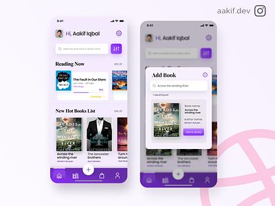 Book Tracker App 📕 uitrends tracker app minimalist reading app ebook design book reading dailyui uitrend app uidesign ui design inspiration uiux concept app design