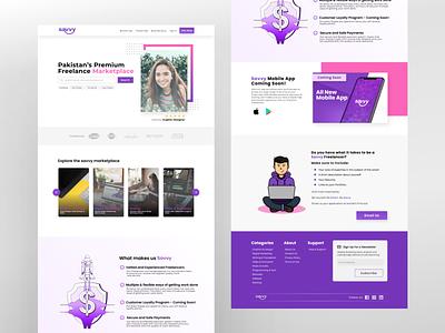 Savvy - Website Design minimalist uiuxdesigner minimal landingpage webdesign dailyui concept inspiration ui uidesign uitrend uiux