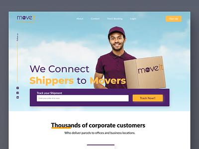 Moveit - Website Design website webdesign website concept website design ui minimal dailyui uidesign concept uitrend inspiration uiux