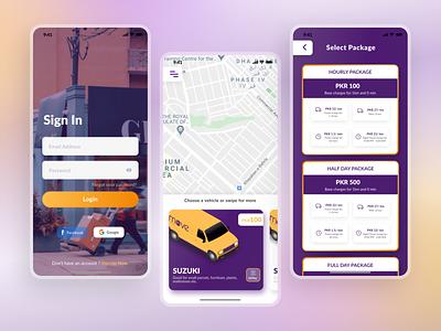 Moveit App 🚚 signup onboarding login uiux design car booking app taxibooking booking app logistics app ridesharing appdesigner app design minimal design dailyui concept uidesign uitrend inspiration uiux