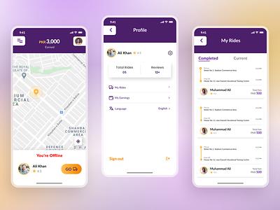 Moveit App 🚚 - (Driver End Screens) bookingapp minimalist uiuxdesigner appdesigner app design minimal design uidesign uitrend inspiration uiux