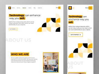 DigiCrowd Website - About Us Page webuidesign about us webdesign landing page website design minimal design concept uidesign uitrend inspiration uiux