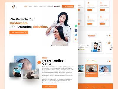 Hair Transplant Landing Page Design hairtransplantdesign websiteuiuxdesign webuidesign websitedesign webdesign landingpagedesign minimal uidesign uitrend inspiration uiux