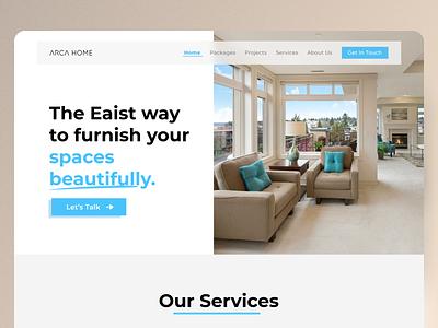 ARCH HOME - Landing Page Design interiorwebdesign website uiuxdesign uxdesign webuidesign landingpagedesign webdesign minimal uidesign uitrend inspiration uiux