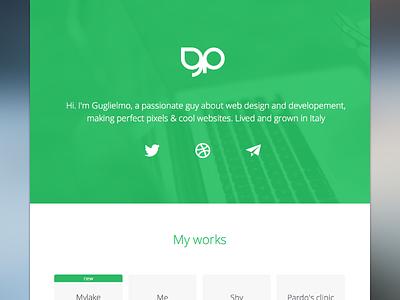 My New Website Portfolio website portfolio green minimal flat design responsive