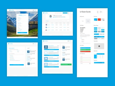 Invalley Project webapp clean landing page blue ui ux startup