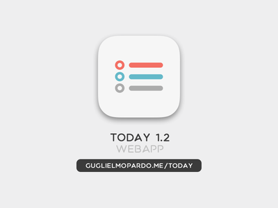 ToDay Webapp v.1.2 iphone logo icon today ios minimal clean todo app webapp