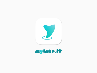 Mylake 2.0 - App icon clean mark iphone logo webapp lake ios app icon