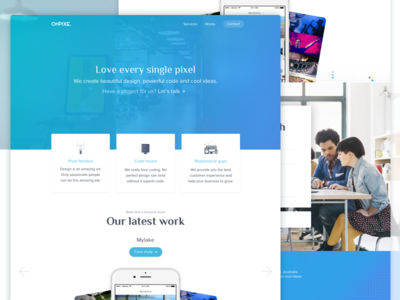 Digital agency homepage gradient ux ui startup portfolio page landing agency digital homepage