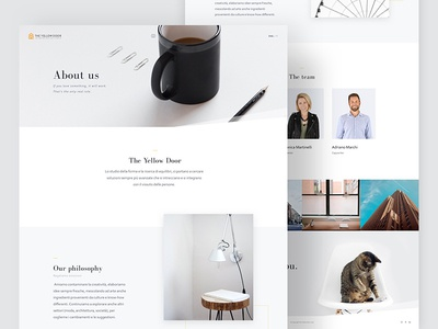 Interior Design Studio - About page agency profile about interior design studio site minimal yellow ui ux