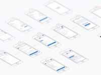 Wireframes - E-commerce app