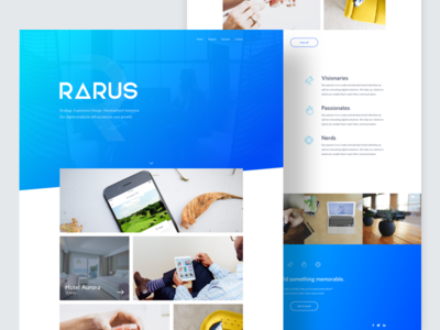 Digital Agency - Homepage minimal ux ui agency digital gradient blue web desktop design homepage startup