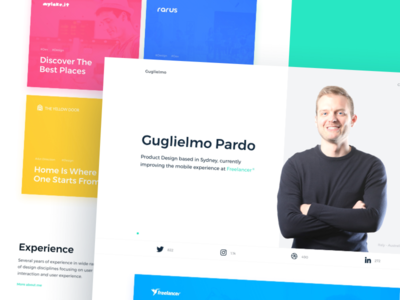 New Website 🤩 interaction portfolio website minimal designer clean homepage ui interface italy