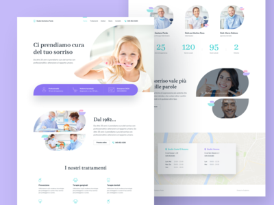 Dental Clinic Homepage dentist website ui responsive homepage health minimal dental clinic