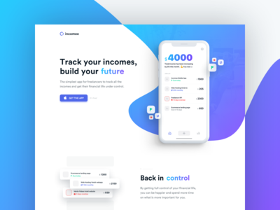Incomee landing page