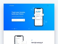 New Incomee App landing page