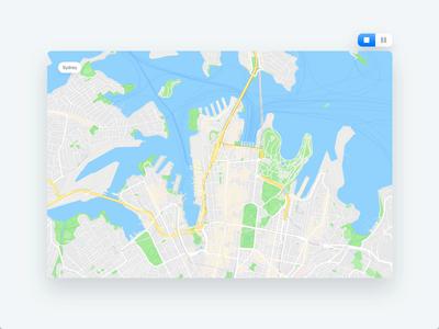Stuart Pulse - Split view location map splitscreen adobe xd ux ui motion design clean animation interaction