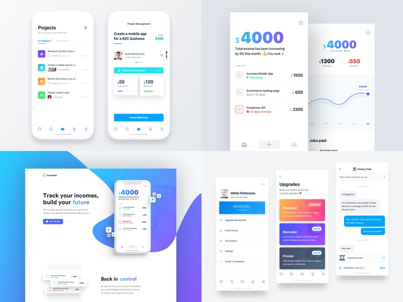 2018 Top4Shots branding gradient landing startup web blue responsive mobile website ios homepage freelancer 2018 design ux ui clean app minimal