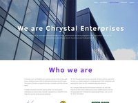 Chrystal Enterprises Website