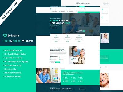 Brivona landing page creative doctor healthcare corporate business woocommerce ui ux design blog design responsive design