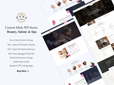Fyna responsive wordpress wordpress theme spa beauty salon beauty parlour ecommerce design business woocommerce responsive design