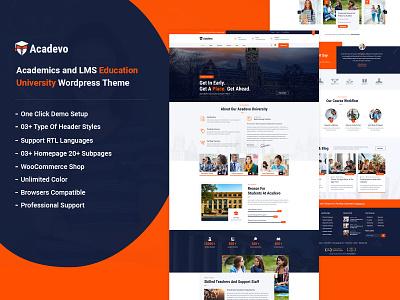 Acadevo business ecommerce responsive wordpress theme online study university education theme educational responsive design
