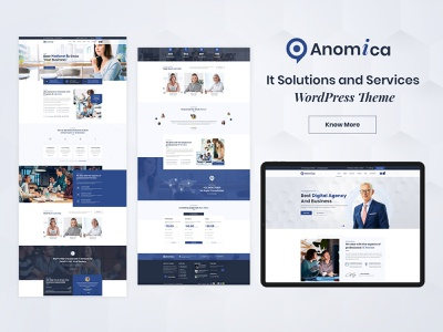 Anomica - IT Solutions and Services WordPress Theme ux interface services information technology wordpress theme illustration ecommerce ecommerce design responsive business responsive design